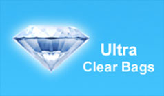 Ultra Clear logo - Zip Bags Lock in Freshness